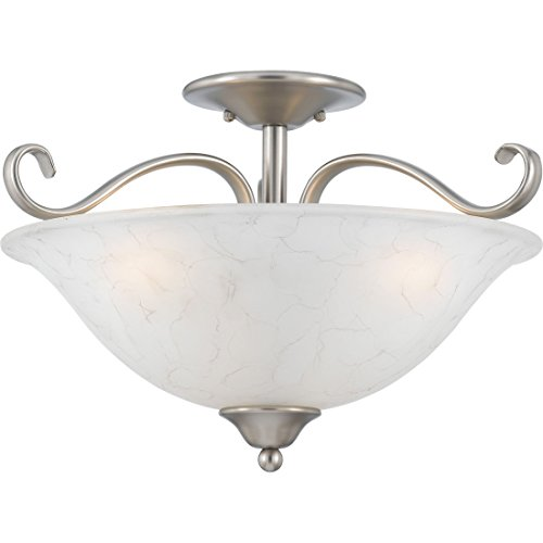 "Quoizel DH1718AN Duchess Semi-Flush Ceiling Lighting, 3-Light, 300 Watts, Antique Nickel (11"" H x 17"" W) from Quoizel"