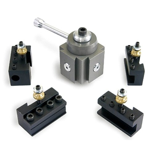 HHIP 3900-5350 Mini Aluminum Quick Change Tool Post and Holder Kit by HHIP
