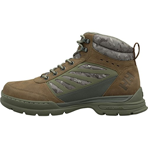Helly Hansen Men's Fairfield Waterproof Winter Snow Boot Comfortable with Grip, Bushwacker/Beluga/Ivy Green, 10.5