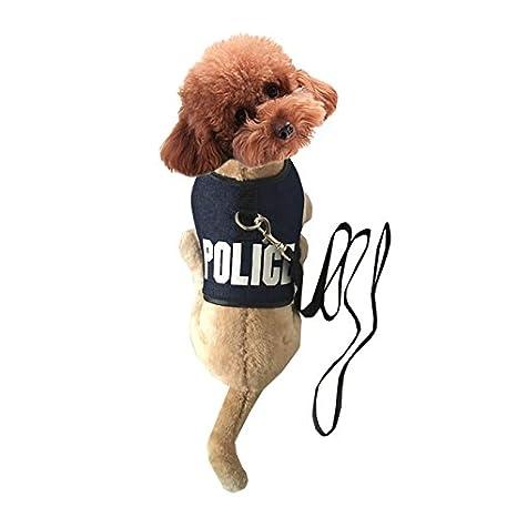 pineocus Policía carta estilo mascota perros Arnés: Amazon.es ...