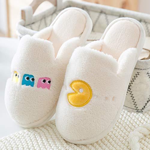 Intérieur Antidérapantes Version À Maison Hiver Femme Bas Blanc De Japonais Pantoufles Chaleur Apportent Votre Maternité Fond Style Épais La En Coréenne Automne Couple Belles Coton Chaussures w6AfHO