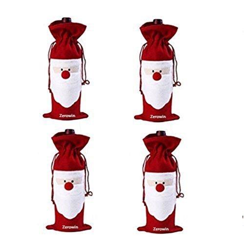Santa Wine Bottle Gift Bags - 3