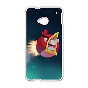 Popular And Durable Designed TPU Case with Angry Birds HTC One M7 Cell Phone Case White