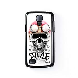 Skull Vespa Black Hard Plastic Case for Samsung Galaxy S4 Mini by Gangtoyz 2D + FREE Crystal Clear Screen Protector