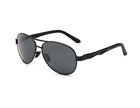 9a95f90664 Hero Ultralight aviation aluminum-magnesium aviator sunglasses (Black Color)