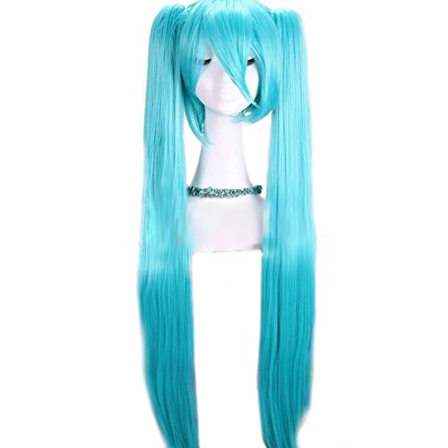 Long Straight Anime Teal Wig