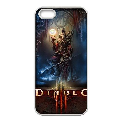 H5Q37 Diablo III X3Q2AL coque iPhone 5 5s cellule de cas de téléphone couvercle coque blanche DF2RHJ4PL