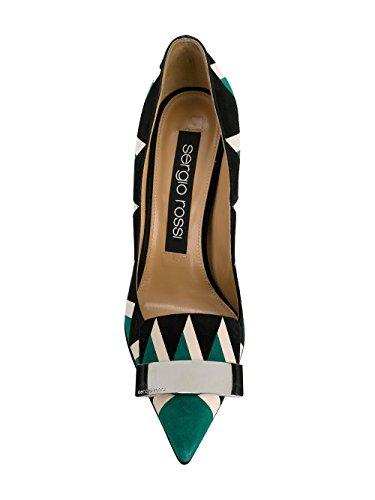 Rossi Cuir Sergio Vert A78951MFN2413711 Escarpins Femme ZAPw60