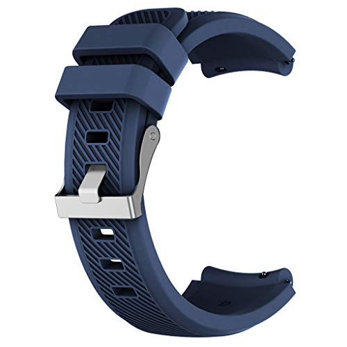 - Clearance Sale!DEESEE(TM)Replacement Silicone Watch Band Wrist Strap for Huawei Watch GT Smart Watch 22mm (Dark Blue)