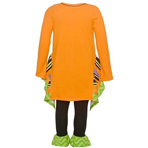 Bonnie Jean Girls' Little Two Piece Halloween Appliqued Dress and Legging Set