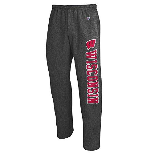 - Elite Fan Shop Wisconsin Badgers Sweatpants Pockets Charcoal - XXL