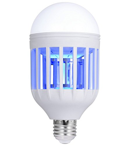 Fits in 110v Light Bulb Socket, For Indoor Porch Deck Patio Backyard Garden,Mosquito Killer Lamp, Mosquito Zapper, Fly Killer, Mosquito Trap, Electronic Insect Killer, Bug Zapper Light Bulb