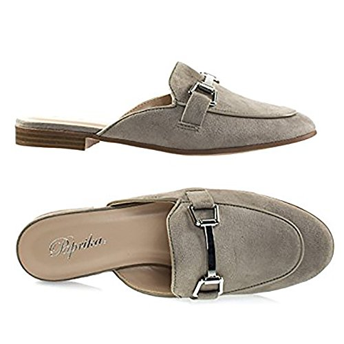 Clay Backless Gold Paprika Loafer Hardware Tone On Imsu Horsebit Slip Women's w6xXpHqz