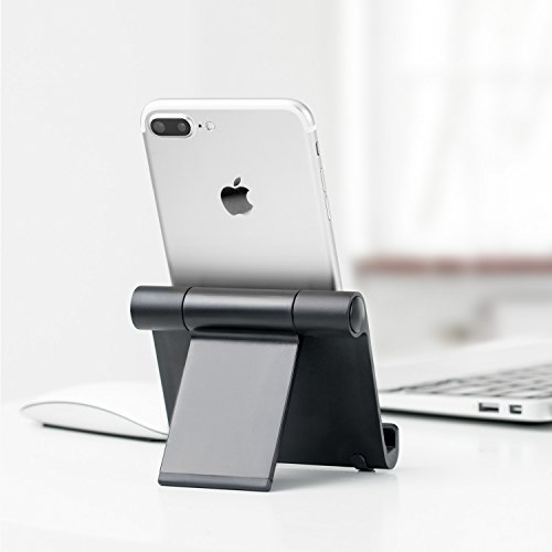 Anker Portable Multi-Angle Stand for Tablets, e-readers and Smartphones, Compatible with iPhone X/8/8 Plus/7/7 Plus, Samsung Galaxy S8/S7/Note 8, iPad Pro 9.7/10.5, Air, mini, Pixel 2 and More (Black) by Anker (Image #6)