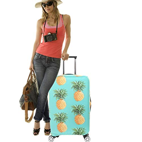 Fvstar Pineapple Luggage Cover Suitcase Cover Protector Travel Baggage Covers Carry On Protective Cover