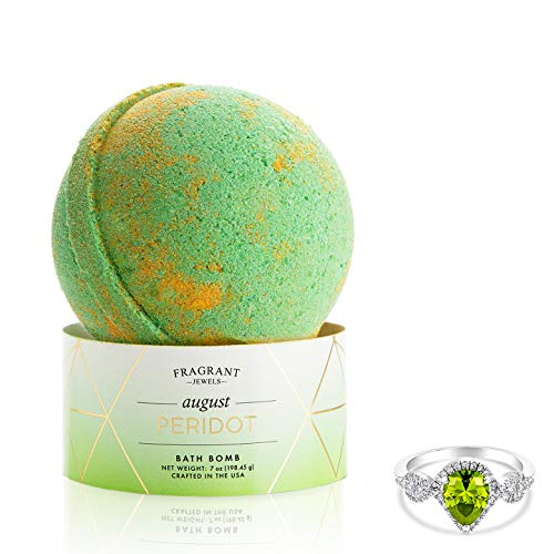 (Fragrant Jewels Peridot August Birthstone Bath Bomb with Collectible Ring (Size 5-10))