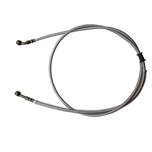 Motocross Pit - GOOFIT 1550mm Hydraulic Brake Oil Hose Line Pipe for Motorcycle Pit Dirt Bike Enduro Motocross(Sliver)