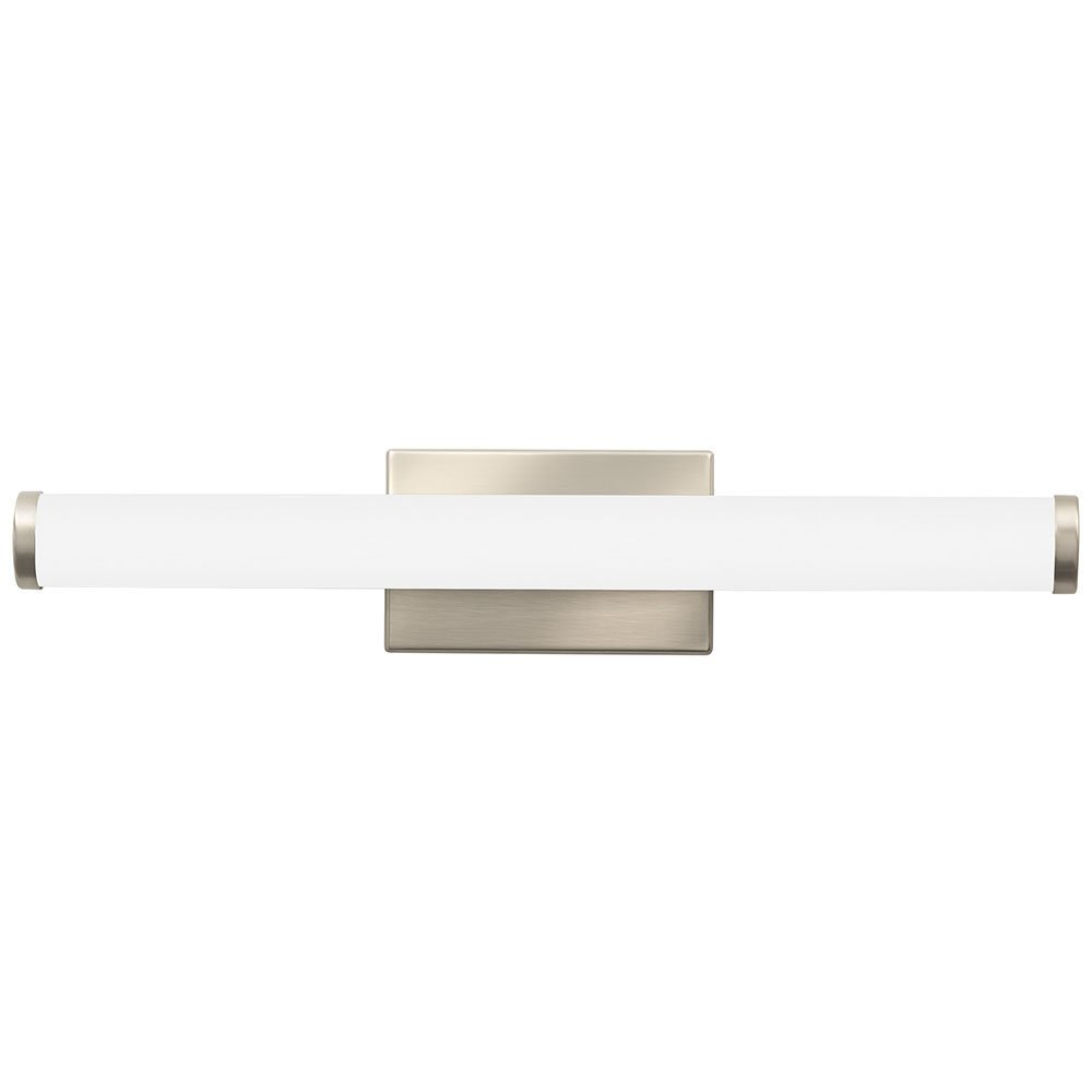Lithonia Lighting Contemporary Cylinder 3K LED Vanity Light, 2-Foot, Brushed Nickel