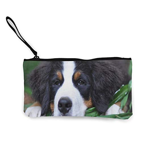 Price comparison product image Bernese Mountain Dog Cute Women's Travel Makeup Bags Canvas Coin Purse Stylish Small Clutch Pouch Passport Organizer Bag