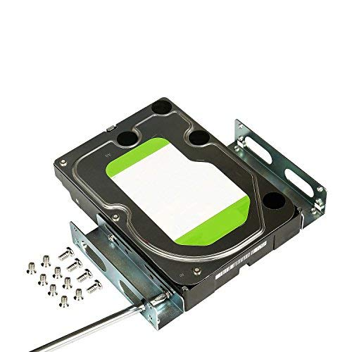 "SSD HDD Metal Mounting Bracket Adapter Hard Drive Holder for PC,Convert Any 3.5"" Solid State Drive/HDD Into One 5.25 Inch Drive Bay"