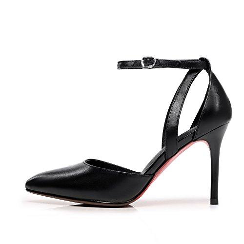 BalaMasa ASL05261, Sandales Compensées Femme Noir