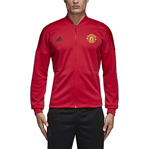 adidas Men's Manchester United Home ZNE Jacket (Small) Real Red