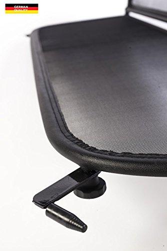 Frangivento pieghevole nero con chiusura rapida per Opel Vauxhall Cascada 2013-2017 Deflettore del vento Deflettore aria Paravento per decappottabili
