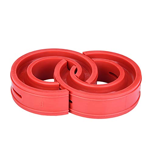 2pc Car Shock Absorber Buffer Spring Bumper Cushion Red TPE Type A-F(F) from Miyinla