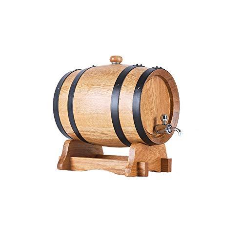 Wine Set Wine Barrel - Oak Barrel Barrel Without Braid Wine Wine Wood Barrel Household -3L, 5L, 10L, 15L, 20L -/# (Capacity : 5L, Color : 304 Steel Plug)