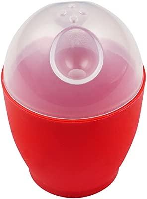 good2heat Cocedor de Huevos para microondas, Color Rojo, plástico, Rojo, 6 x 6 x 9 cm