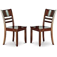 Slatted Back Wooden Dining Chair - Set of 2