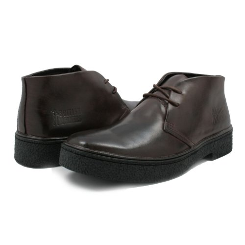 British Walkers Men's Playboy High top Chukka Boot, Dark Brown Leather, 10.5 M (Collection Sharkskin)