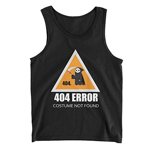Men's Error 404 Costume Not Found Tank Top (S, Black)]()