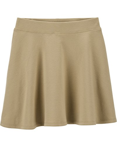 (OshKosh B'Gosh Girls' Kids Uniform Ponte Skirt, Khaki, 6-6X)