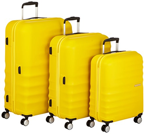 American Tourister Wavebreaker Set di Valigie 3 Pezzi, Sunny Yellow, 96 ml, 77 cm