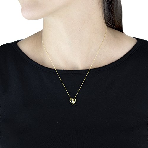 Carissima Gold - Collier Femme - Or Jaune 375/1000 (9 Cts) 0.85 Gr - Oxyde de Zirconium