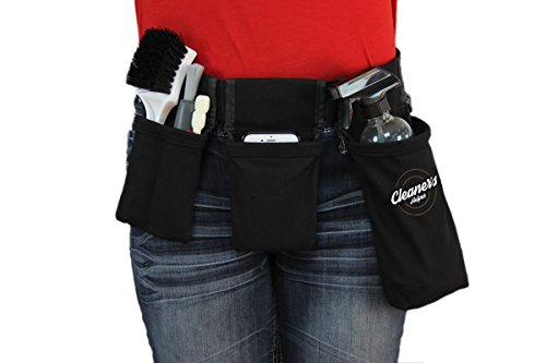 Cleaner's Helper PROFESSIONAL Tool Belt for Janitorial, Custodial, Maid, Housekeeping, Carpet Cleaning, & Cleaning