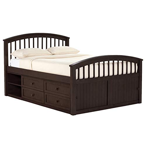 (Hillsdale Furniture 5075N Hillsdale Kids and Teen School House Sized Captain Full Bed with Storage Chocolate)