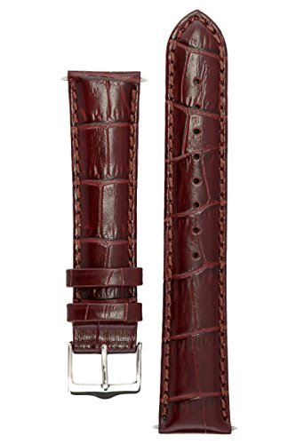Signature Senator in cognac 21 mm watch band. Replacement watch strap. Genuine Leather. Steel buckle. Limited time SALE 30% (Watch 21 Leather Millimeter Band)