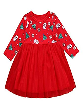 Christmas Beauty Pageant Outfits.Amazon Com Toddler Kid Baby Girl Long Sleeve Cartoon