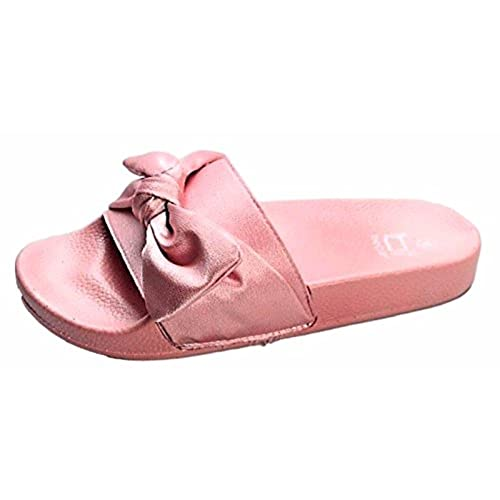 698781067 Betoni Farah-9 Women Flip Flop Bow Satin Slide Slip On Flat Sandal Shoe  Slipper
