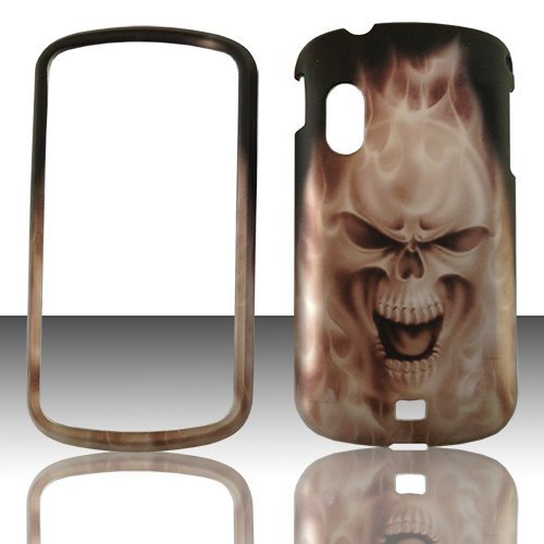 2D Grey Skull Samsung Stratosphere i405 Verizon Case Cover Hard Phone Case Snap-on Cover Rubberized Touch Faceplates (Stratosphere Case)
