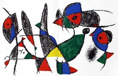 Joan Miro - Original Lithograph IX From Miro Lithographs II, Maeght Publisher by Joan