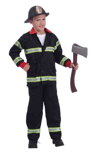 Forum Novelties Real Action Heroes, Instant Fireman Costume Kit, Child's Small