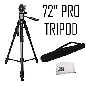72-inch Tripod 3-way Panhead Tilt Motion with Built In Bubble Leveling For Canon Rebel EOS SL1 SL2 T5 T5i T6i T6s T7i 60D 70D 77D 80D 6D 6D Mark II 7D 7D Mark II 5D Mark III IV 5Ds 5Ds R M5 M6