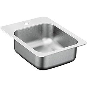 17' x 22' Single Bowl Kitchen Sink, Drop-In, Stainless Steel