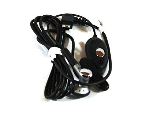 Motorola Genuine OEM SYN0896B Earbud Headset with Mic | Answer/End | Mini USB Port ()