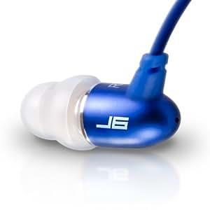 JLab Audio  J6 High Fidelity Metal Ergonomic Earbuds Style Headphones, GUARANTEED FOR LIFE - Sapphire Blue