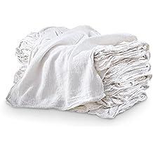 MHF Brand Shop Towels-PREMIUM A GRADE-14x14 Inch-NEW 100% Cotton (100, White)