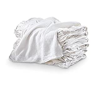 MHF Brand Shop Towels-PREMIUM A GRADE-14x14 Inch-NEW 100% Cotton (1,000, White)